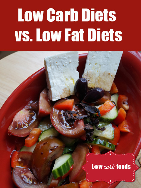 low carb vs low fat